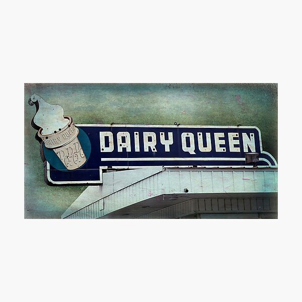 Vintage DQ Sign Photographic Print