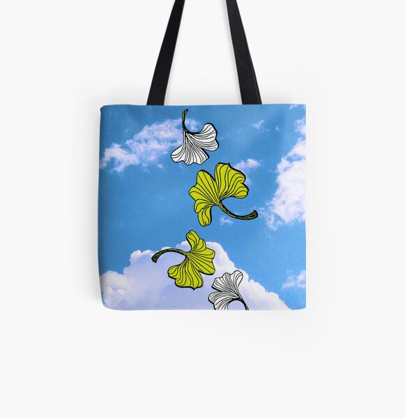 Ginkgo Leaves All Over Print Tote Bag