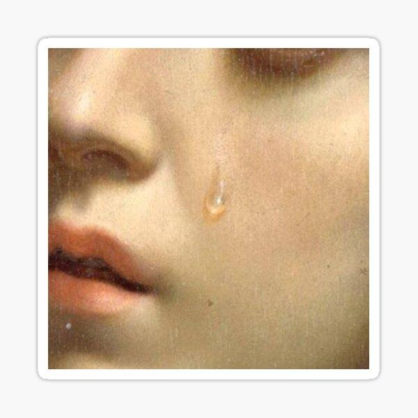 Tears medieval renaissance painting detail Sticker
