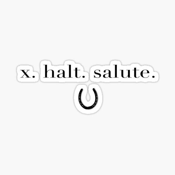 Dressage Rider - x. halt. salute - equestrian lifestyle  Sticker