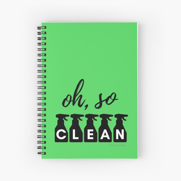 Oh, So Clean Cleaning Lady Gift Spiral Notebook