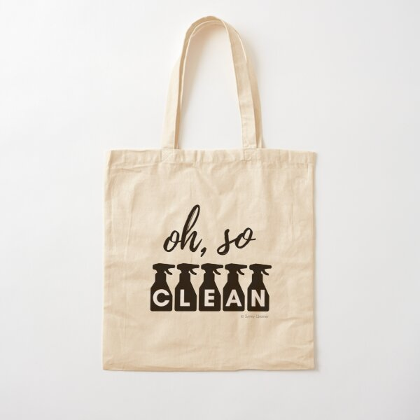 Oh, So Clean Cleaning Lady Gift Cotton Tote Bag