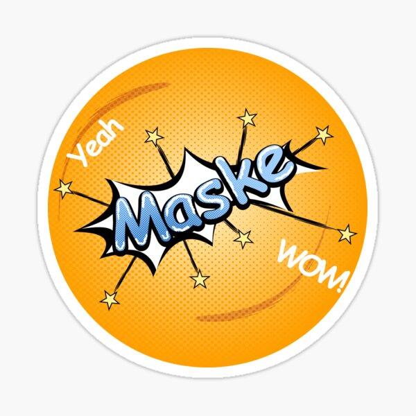 Maske Comic Stil Sticker