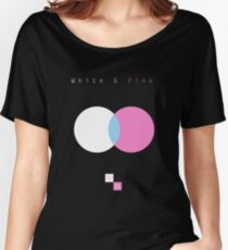 White & Pink Women's Relaxed Fit T-Shirt