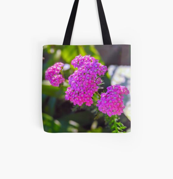 Purple Verbena Flowers All Over Print Tote Bag
