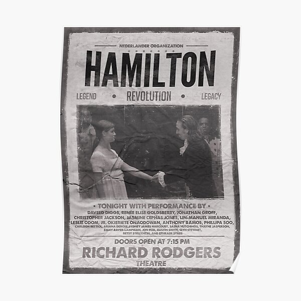 Hamilton Vintage Poster Poster