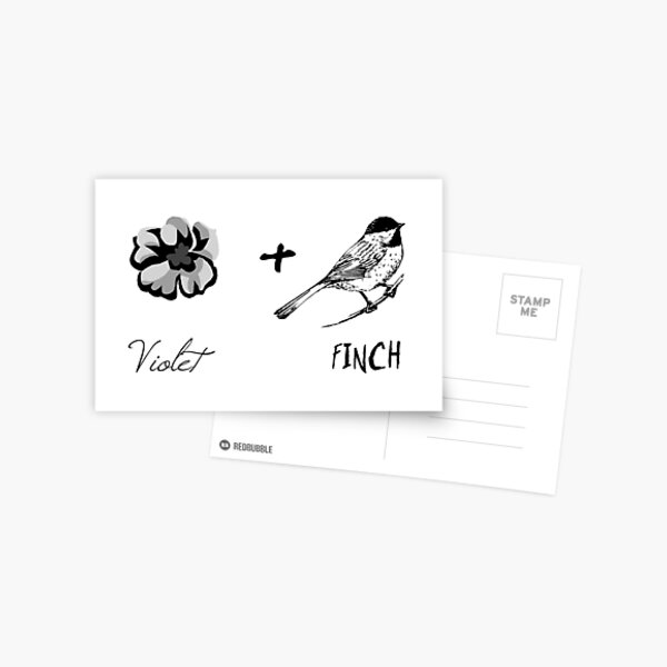 Violet and Finch #2 Postcard