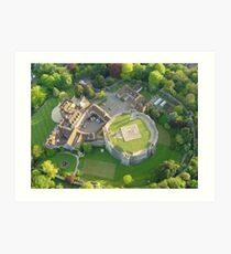 Farnham Castle - Birds Eye View Art Print