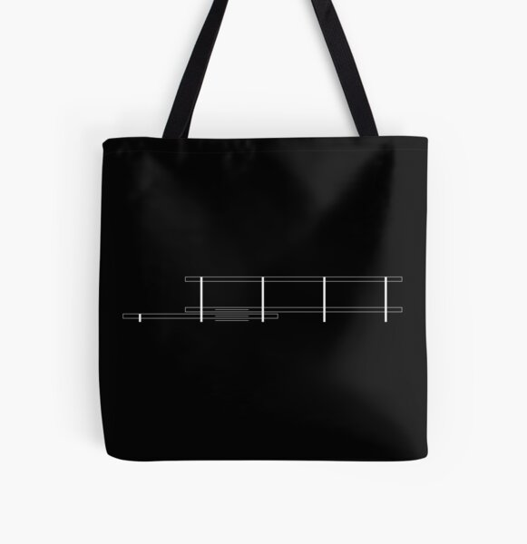 Mies Van Der Rohe - Farnsworth house - White All Over Print Tote Bag