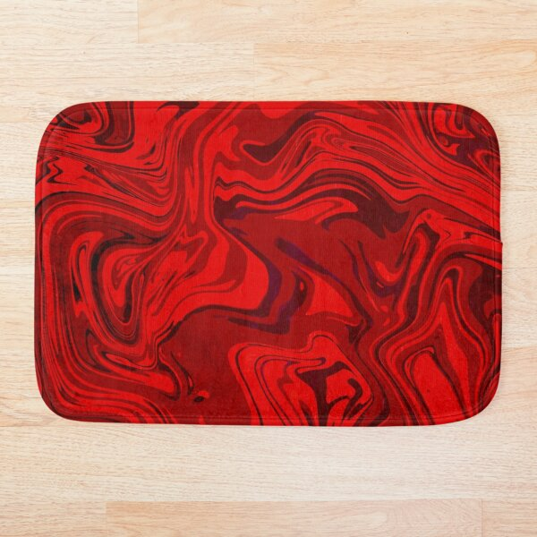 Grunge Red Bath Mat
