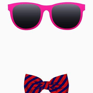 Pink sunglasses and Bowtie by Colferninja