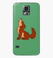 Natural Red Howling Wolf Pup Case/Skin for Samsung Galaxy