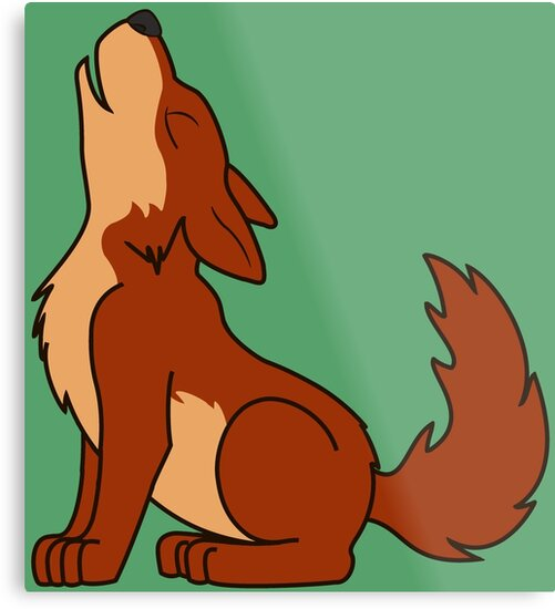 Natural Red Howling Wolf Pup by Grifynne