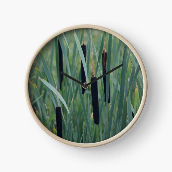 Green rushes texture botanical Clock