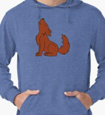 Solid Natural Red Howling Wolf Pup Lightweight Hoodie