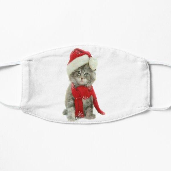 christmas 2020 holidays cat Flat Mask