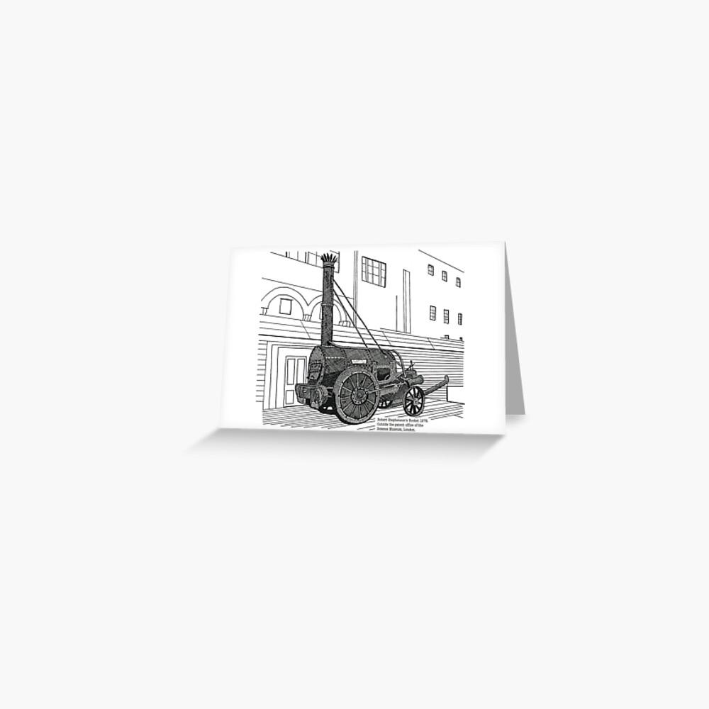 Robert Stephenson's Rocket Greeting Card
