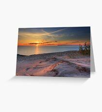 Sunset on Sleeping Bear Dunes National Lakeshore Greeting Card