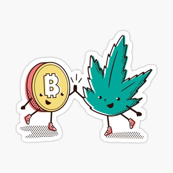 Canna bitcoin Sticker