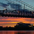 Sunset Under Roebling Bridge by thatche2