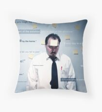 My Life is a Slogan Throw Pillow