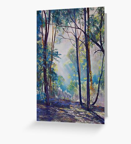 Early Morning Bushwalk Greeting Card