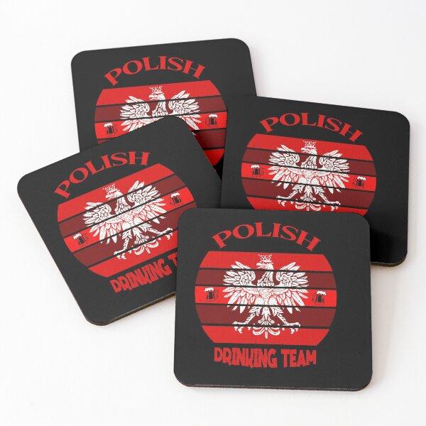 Polish Drinking Team Coasters (Set of 4)