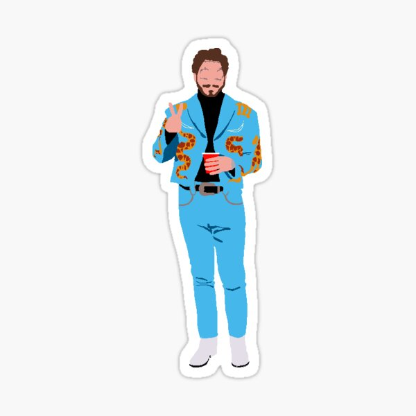 Post Malone Sticker fini brillant