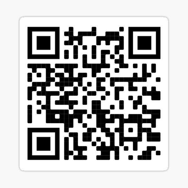 le code QR du crime parfait de dwight schrute Sticker