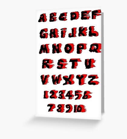 Alphabet on Fire Greeting Card