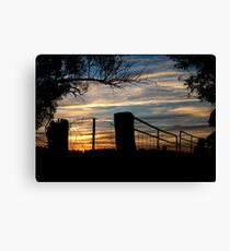 Sunset Milvale Road ... 29 May 2013 Canvas Print
