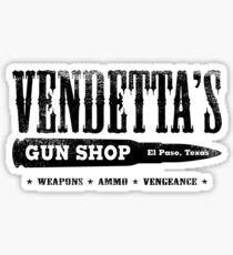 Vendetta's Gun Shop Sticker