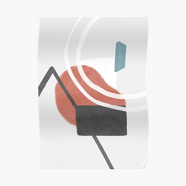 In the spotlight - abstract shapes #103 Poster