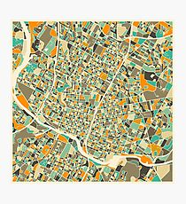 AUSTIN MAP Photographic Print