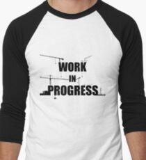 Work in progress Men's Baseball ¾ T-Shirt