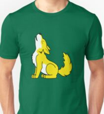 Yellow Howling Wolf Pup T-Shirt