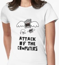 Attack of the Computers Women's Fitted T-Shirt