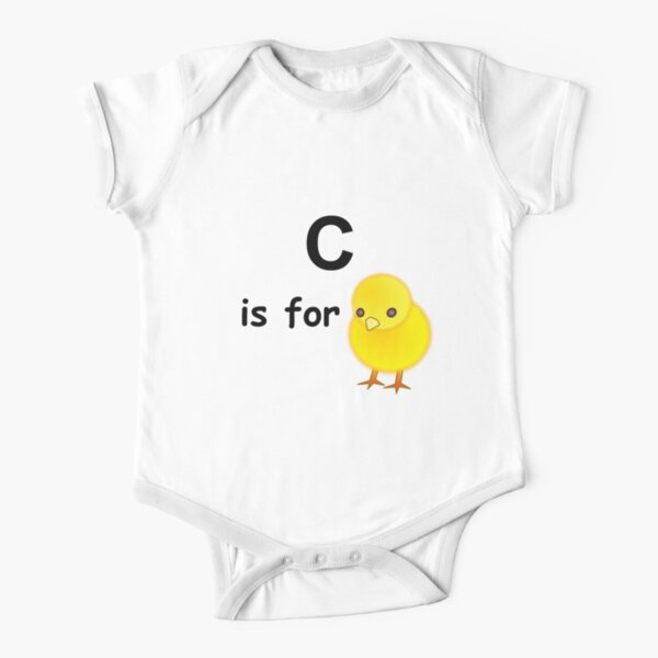 C is for ...V4 Short Sleeve Baby One-Piece