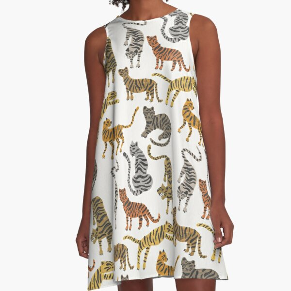 Tiger Collection – Neutral Palette A-Line Dress
