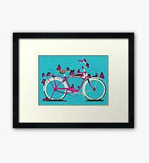 Butterfly Bicycle Framed Print