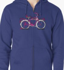 Butterfly Bicycle Zipped Hoodie