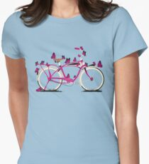 Butterfly Bicycle Women's Fitted T-Shirt