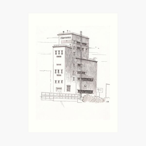 Shotwell Tower, Hull Art Print
