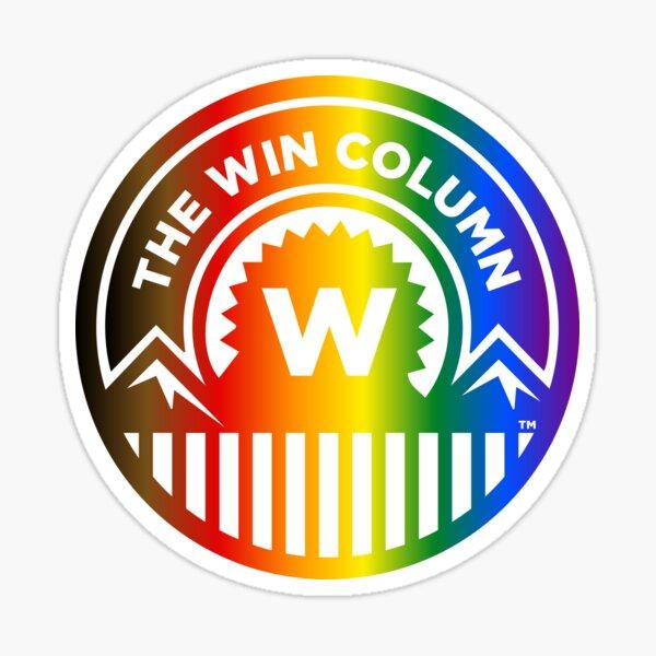 The Win Column Pride Logo Sticker