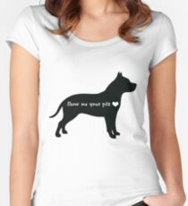 Show me your pits Women's Fitted Scoop T-Shirt