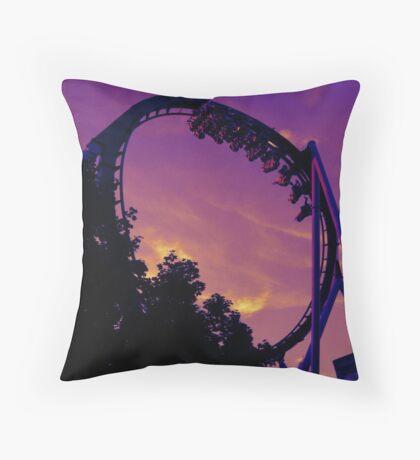 Purple Sky and Purple Ride Throw Pillow