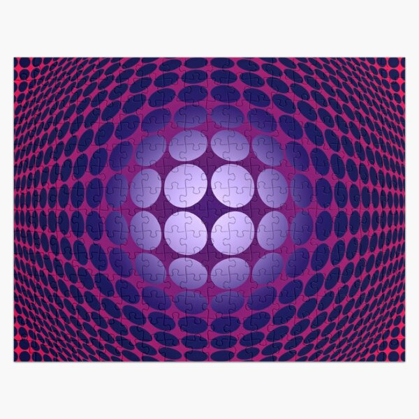 Victor Vasarely Homage 28 Jigsaw Puzzle