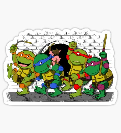 Where the wild turtles are Sticker