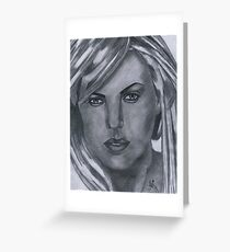 Charlize Theron Greeting Card