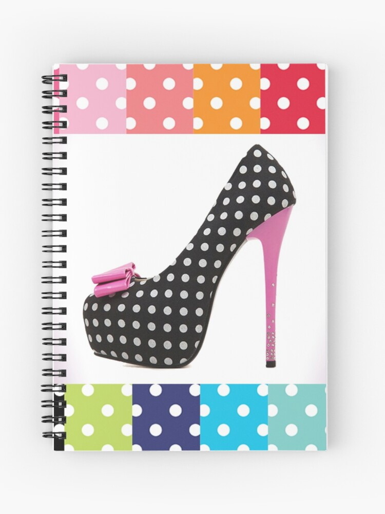 Black \u0026 White Polka Dot Pink High Heel